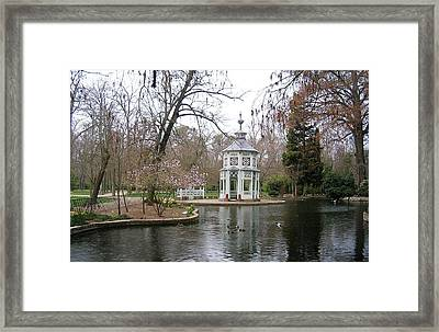 Spring In The Aranjuez Gardens Spain Framed Print by Valerie Ornstein
