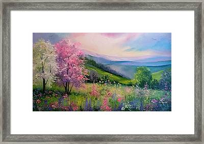 Spring In The Carpathians  Framed Print by Olha Darchuk