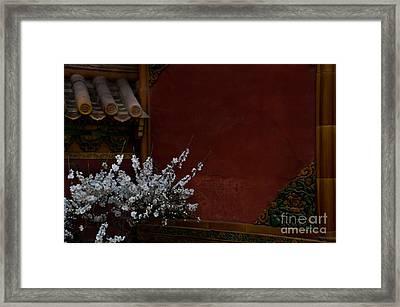 Spring In The Forbidden City Framed Print by Venetta Archer