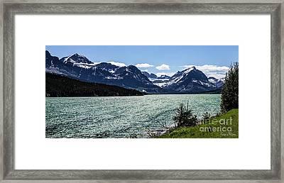 Many Glacier Framed Print