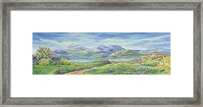 Spring In The Okanagan Valley Framed Print by Malanda Warner