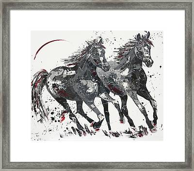 Spring In The Shadows Framed Print by Penny Warden
