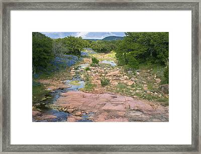 Spring In The Texas Hill Country Framed Print by Paul Huchton