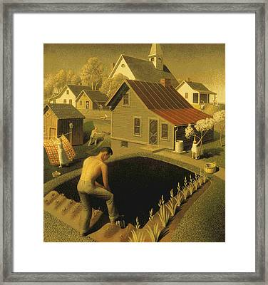 Spring In Town Framed Print by MotionAge Designs