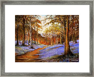Spring In Wentwood  Warm Edit Framed Print
