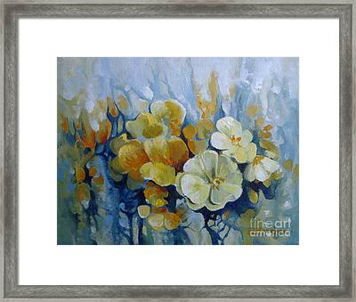 Framed Print featuring the painting Spring Inflorescence by Elena Oleniuc