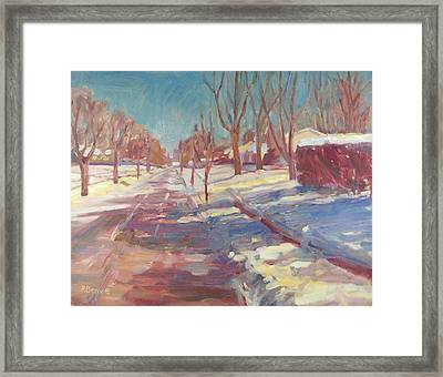 Spring Is Around The Corner I Know It Framed Print