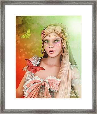 Framed Print featuring the digital art Spring Is In The Air by Jutta Maria Pusl