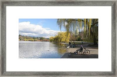 Spring Is In The Air  Stanley Park Vancouver Framed Print by Pierre Leclerc Photography
