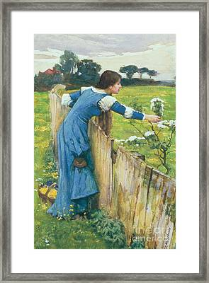 Spring Framed Print by John William Waterhouse