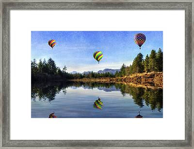 Spring Lake Framed Print by Ian Mitchell