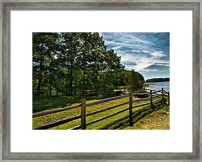 Spring Landscape In Nh 2 Framed Print by Edward Myers