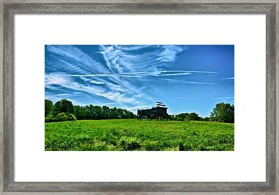 Spring Landscape In Nh 4 Framed Print by Edward Myers
