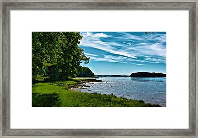 Spring Landscape In Nh 5 Framed Print by Edward Myers