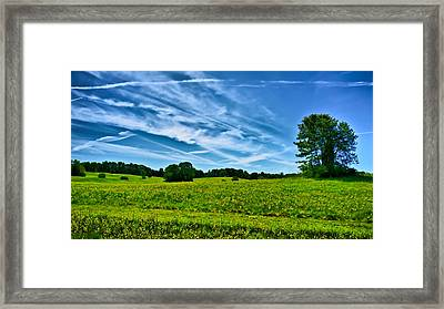 Spring Landscape In Nh Framed Print by Edward Myers