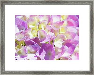 Framed Print featuring the photograph Spring Lavender Hydrangea Painterly 1 by Andee Design