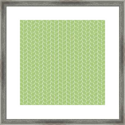 Framed Print featuring the digital art Spring Leaf by Linde Townsend