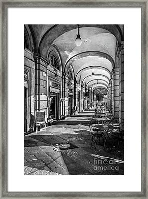 Spring Light In Porticos Framed Print by Italy Art and Soul