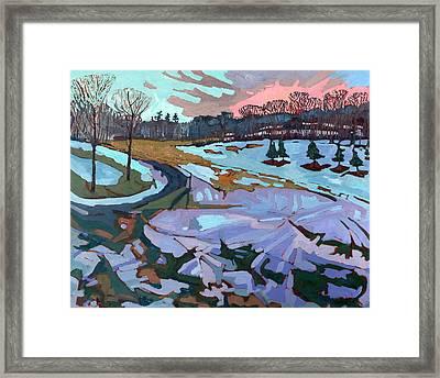 Spring Melt Framed Print by Phil Chadwick