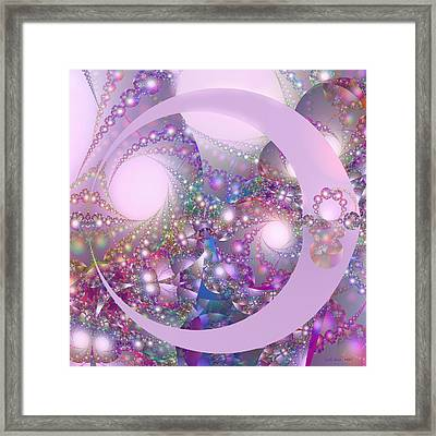 Spring Moon Bubble Fractal Framed Print