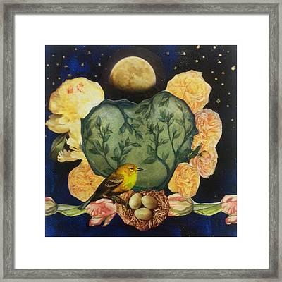 Spring Moonrise Framed Print