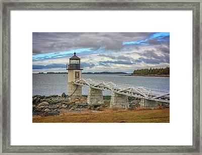 Spring Morning At Marshall Point Framed Print by Rick Berk