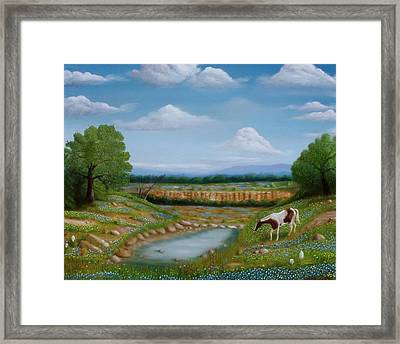 Framed Print featuring the painting Spring Morning by Gene Gregory