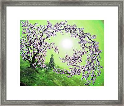 Spring Morning Meditation Framed Print by Laura Iverson