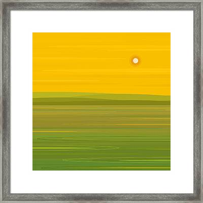 Spring Morning - Square Framed Print by Val Arie