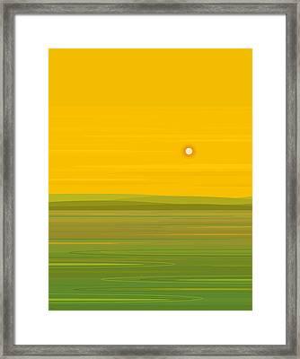 Spring Morning Framed Print by Val Arie