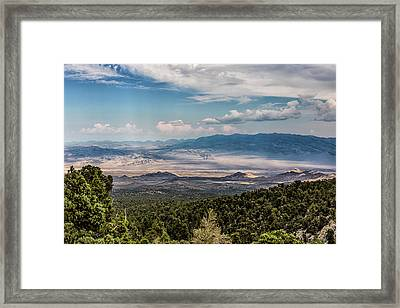 Framed Print featuring the photograph Spring Mountains Desert View by Michael Rogers