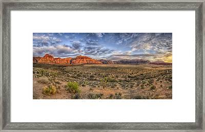 Spring Mountains Sunrise Framed Print