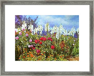 Framed Print featuring the photograph Spring by Munir Alawi