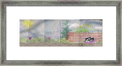 Spring Mural Framed Print by Crescentia Mello and Raine Schmitt
