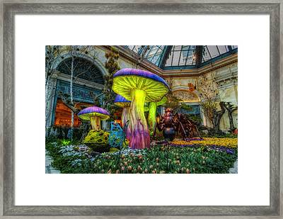 Spring Mushrooms Framed Print