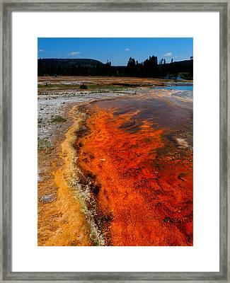 Spring Of Fire Framed Print