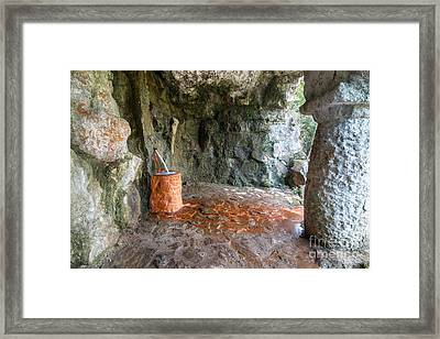 Spring Of Mineral Water Framed Print by Michal Boubin
