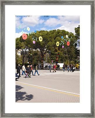 Spring On Deshmoret E Kombit Boulevard Framed Print by Rae Tucker