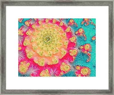 Framed Print featuring the digital art Spring On Parade 2 by Bonnie Bruno