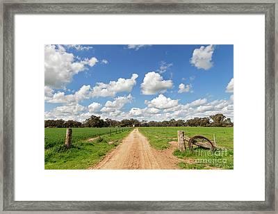 Spring On The Farm Framed Print by Linda Lees