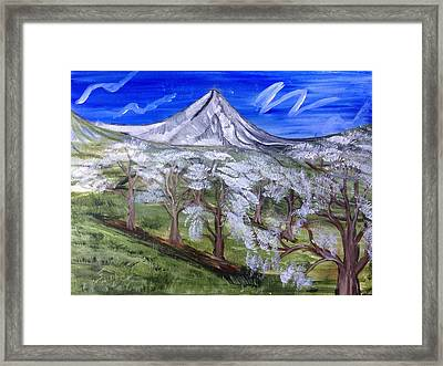 Spring On The Hood Framed Print