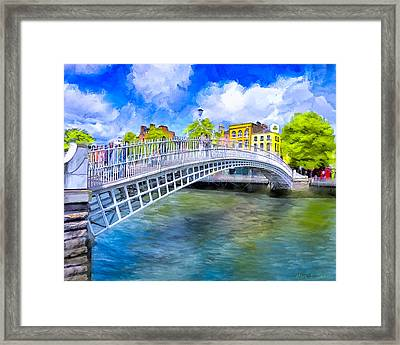 Spring On The Liffey - Historic Dublin Framed Print by Mark E Tisdale