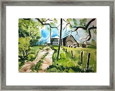 Spring On The Ridge Matted Glassed Framed Framed Print by Charlie Spear