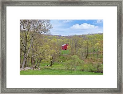 Spring Pasture New England Framed Print