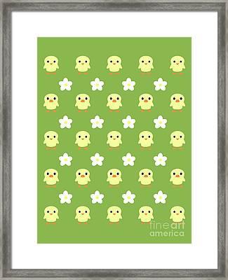 Spring Pattern Framed Print