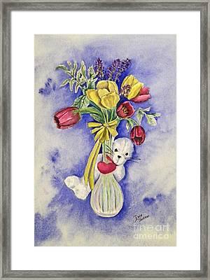 Spring Peek-a-boo I Love You Framed Print