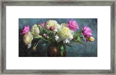 Spring Peonies Framed Print