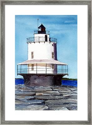 Spring Point Ledge Light Framed Print by Anne Trotter Hodge