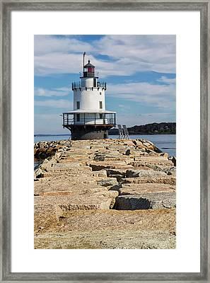 Spring Point Ledge Light Framed Print