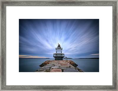 Spring Point Ledge Light Station Framed Print by Rick Berk